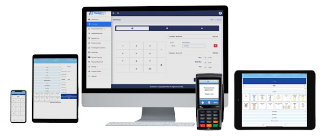 hadepay cloud pos system point of sale software accept credit card payments inventory management