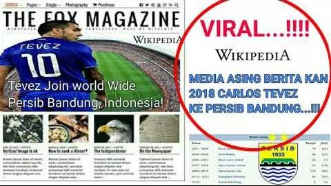 Carlos Tevez Gabung Persib Bandung ??