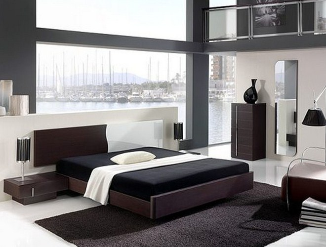 Simple black and white bedroom ideas for modern house - Mens bedroom decorating ideas ...