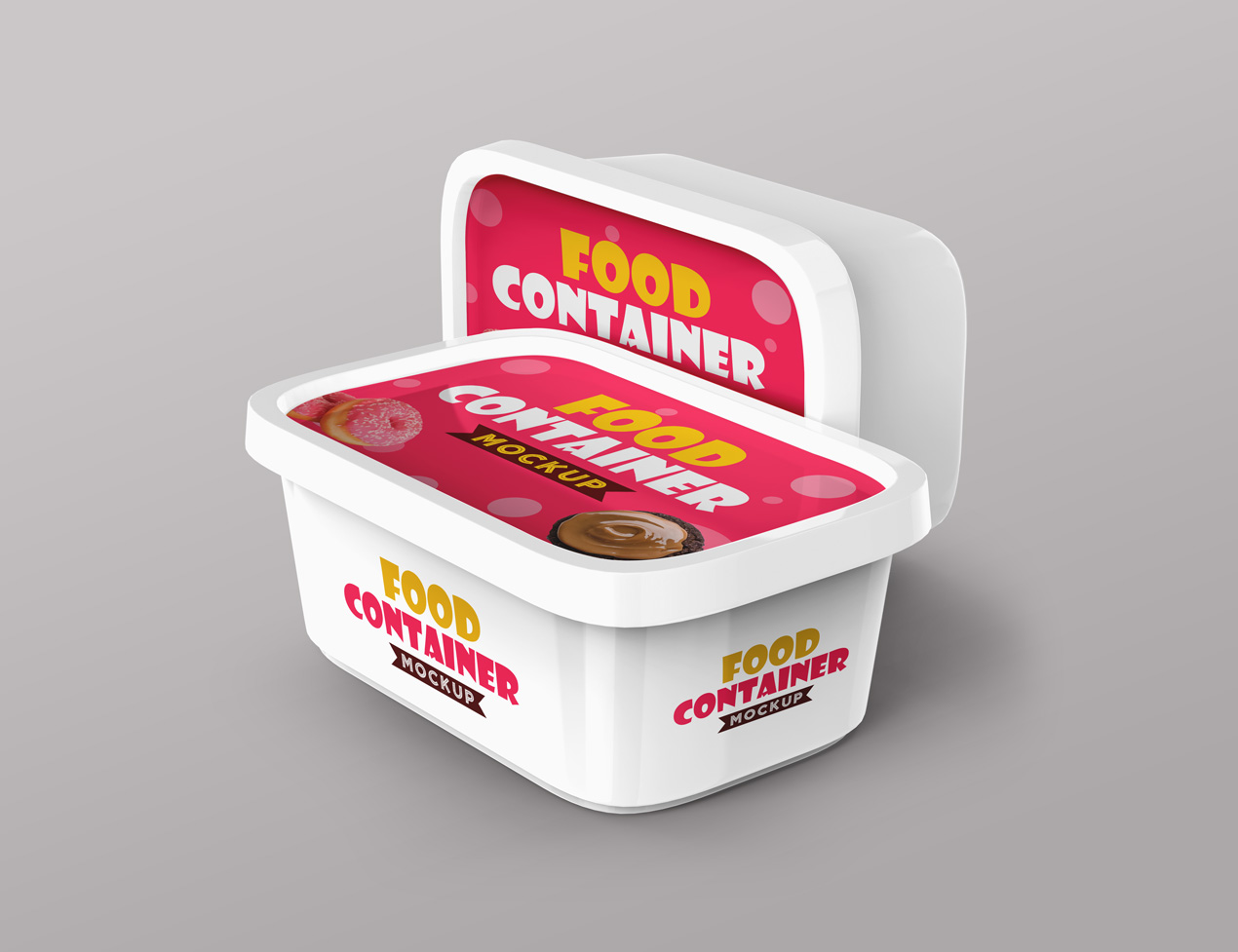 free mock up box packaging plastic box