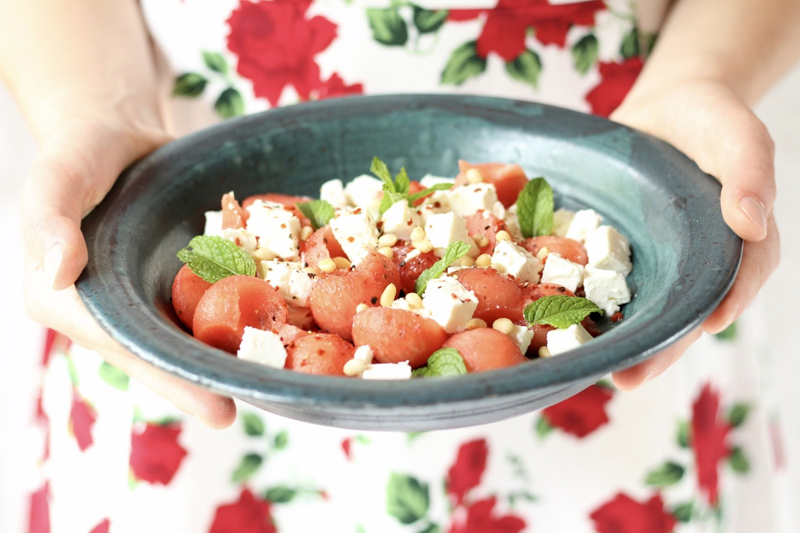 der fitnessklassiker wassermelone feta salat mit limette chili und minze sugarprincess. Black Bedroom Furniture Sets. Home Design Ideas