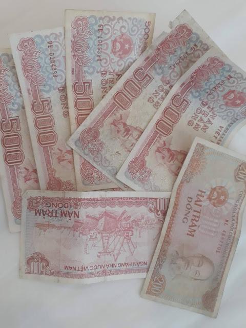 小額紙幣の500ベトナムドン