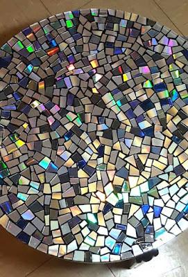 Mosaico de CDs