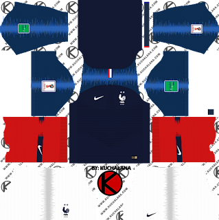 France Two Star 2018 Nike Kit -  Dream League Soccer Kits