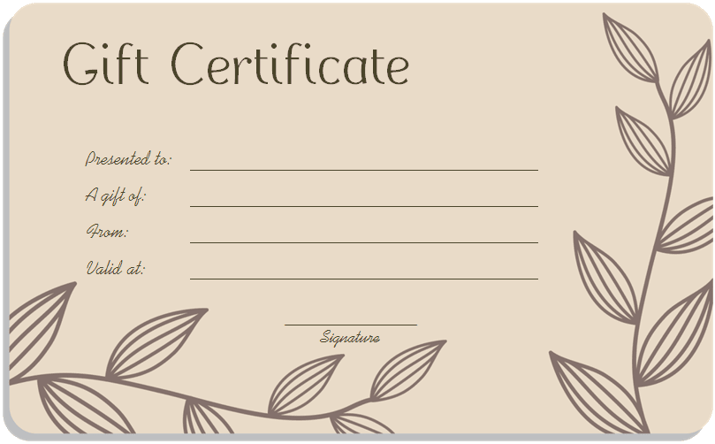 Beauty salon gift certificate template apa templates beauty salon gift certificate template yelopaper