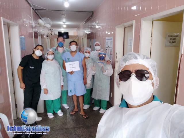 Caraubense 37 anos vence Covid-19 e recebe alta médica no hospital de Caraúbas