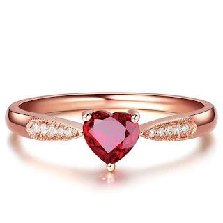 Nhẫn cưới đá Ruby