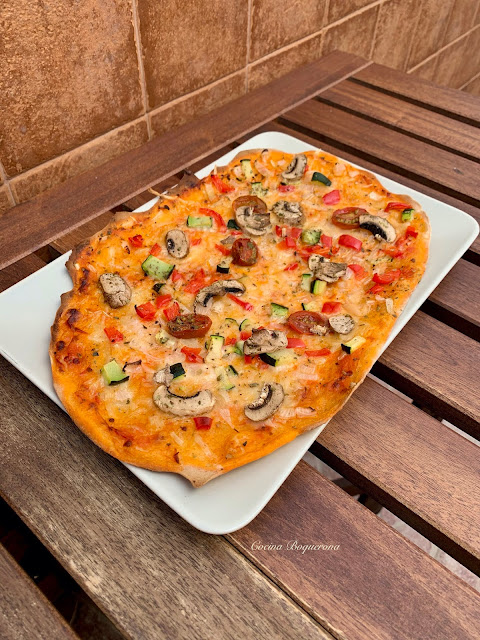 Pizza con toque de ajo sin gluten