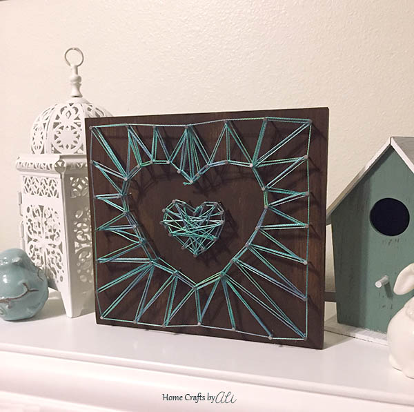 Easy Tutorial to Make Your Own Two-Heart String Art