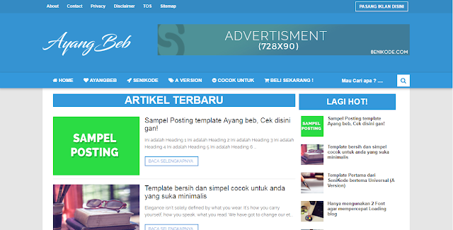 Template AyangBeb Premium Gratis Download