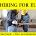 Europe Job Openings in 2019 - Free Food & Free Accommodation