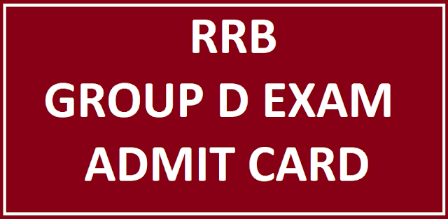RRB Group D Jobs Hall Ticket
