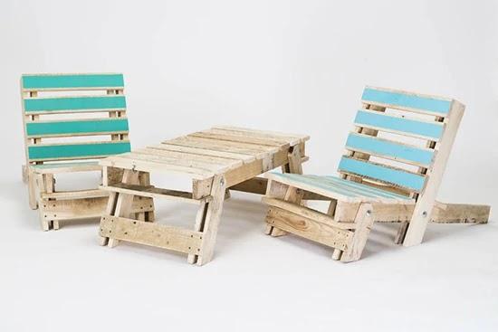 Desain inspiratif kursi dari pallet bekas terbaru