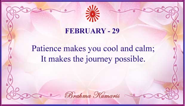 Thought For The Day February 29