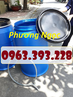Thùng phuy nhựa HDPE nắp mở, thùng phuy đựng hóa chất 66488543_1072211462970838_6951111462827851776_n