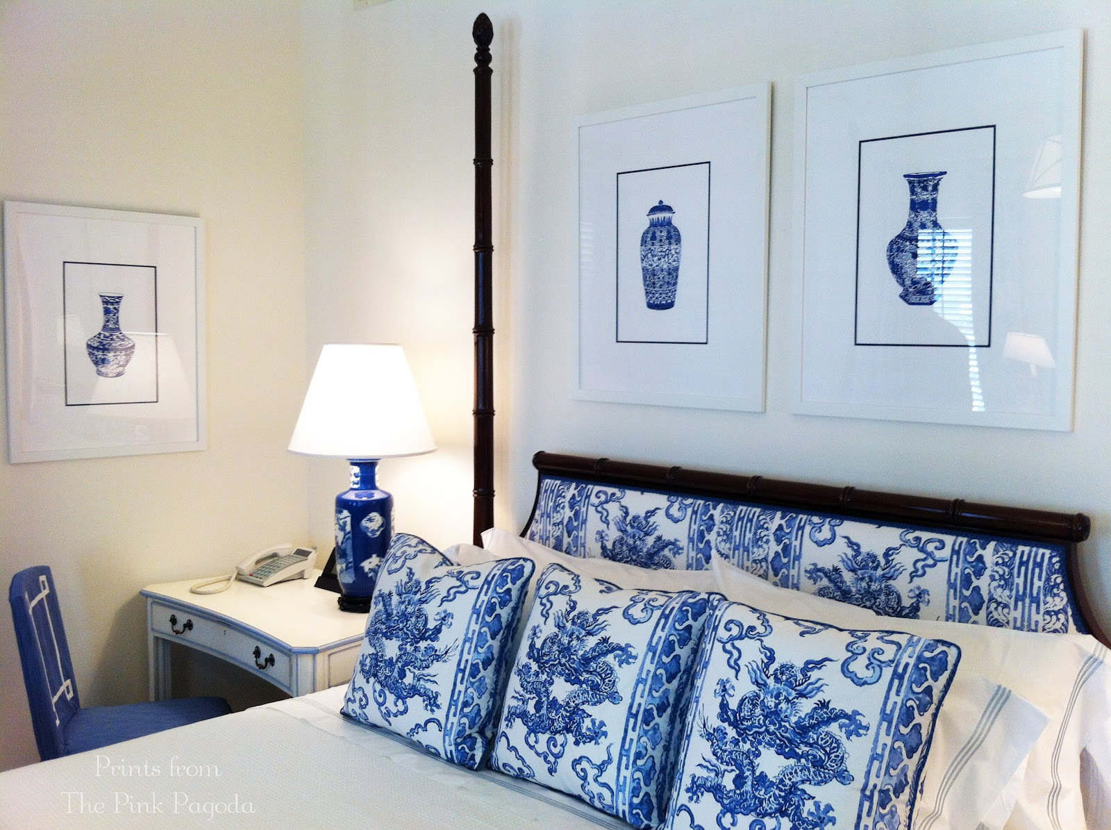 Chinoiserie Chic The Pink Pagoda Blue And White