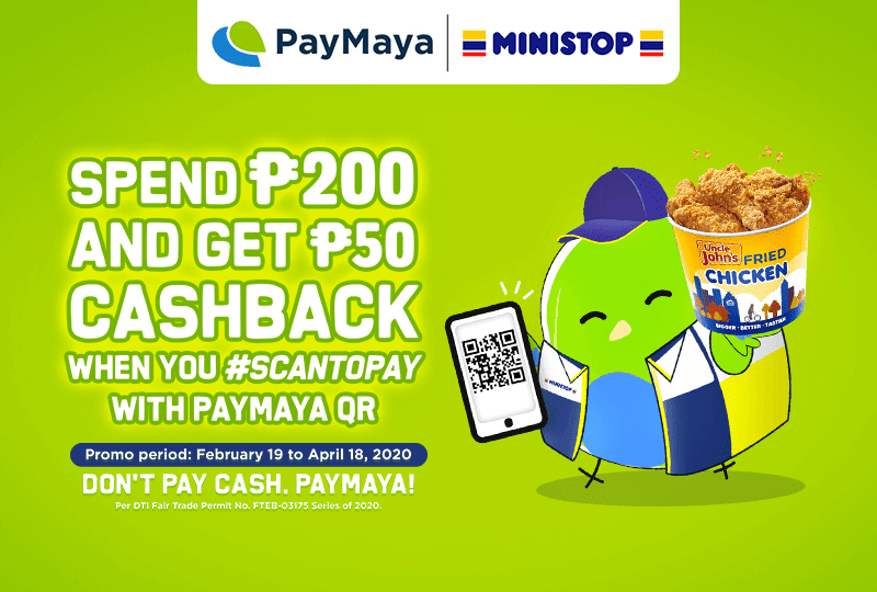 PayMaya collabs with Ministop, spend PHP 200, get PHP 50 cashback