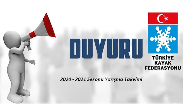 2020 - 2021 SEZONU YARIŞMA TAKVİMİ AÇIKLANDI