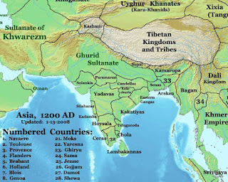 Yadava Dynasty in History of Yadav, Ahir History, Map Showing Yadav Dynasty, यादव वंश, यादव साम्राज्य,