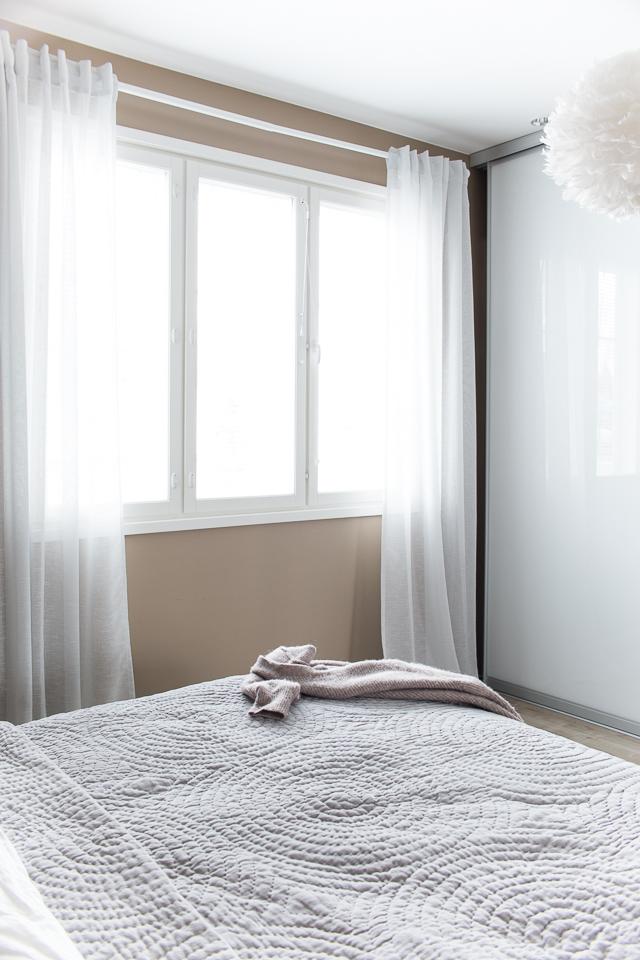 Villa H, makuuhuone, säilytysjärjestelmä