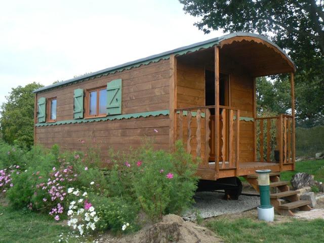 Casa mobile la roulotte in legno