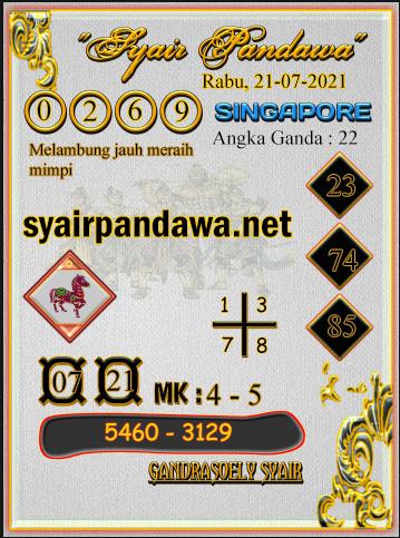 Gambar Syair Pandawa Sgp rabu 21 juli 2021