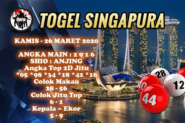 Bocoran Togel Singapura Kamis 26 Maret 2020 - Prediksi Mafia