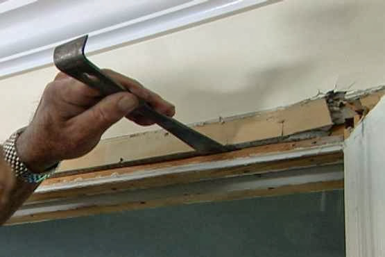 how to repair wall sliding door