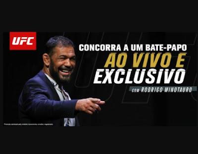 Cadastrar Concurso Bate Papo Minotauro UFC 2021 - Conversar Com Rodrigo Minotauro