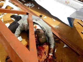 death of a man in church