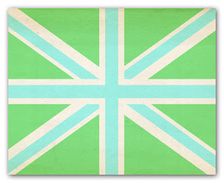 lime and aqua union jack print