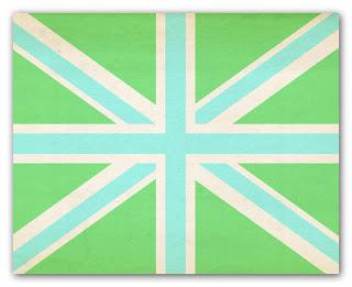 lime and aqua union jack print