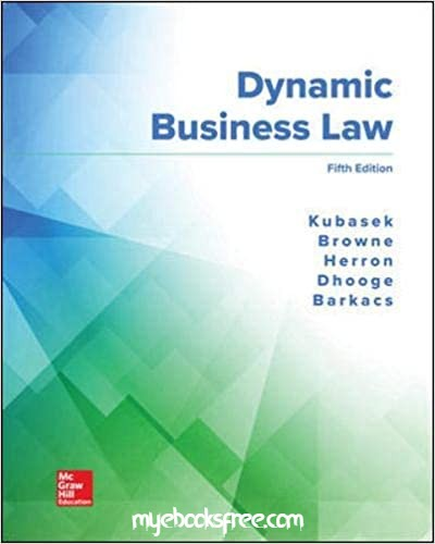 Dynamic Business Law Pdf Book Download