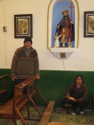 ROCHUS VON MONTPELLIER an, der Hundeheilige er steht in einer Nische in der Pfarrkirche von Esmoraca