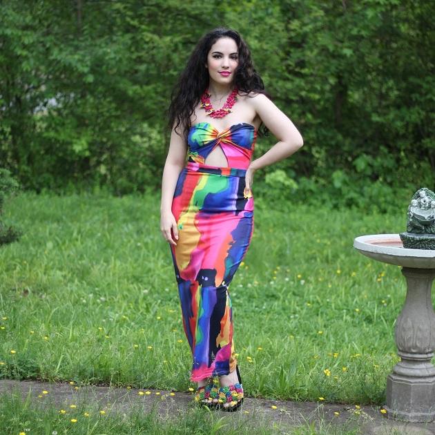 KnowFashionStyle Colorful Print Dress