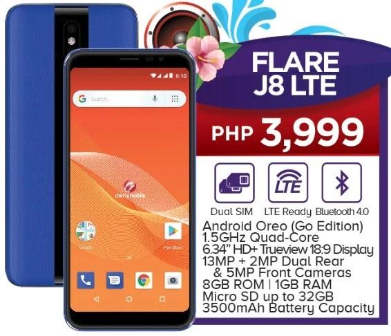 Cherry Mobile Flare J8 LTE Specs, Price