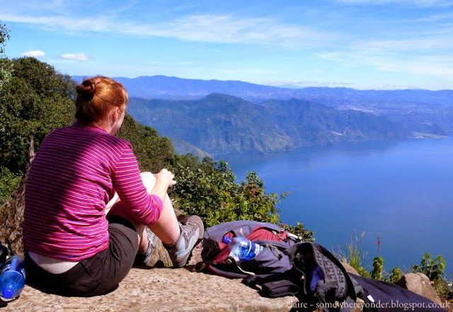 me enjoying the view - Lake Atitlán, Guatemala - 2009