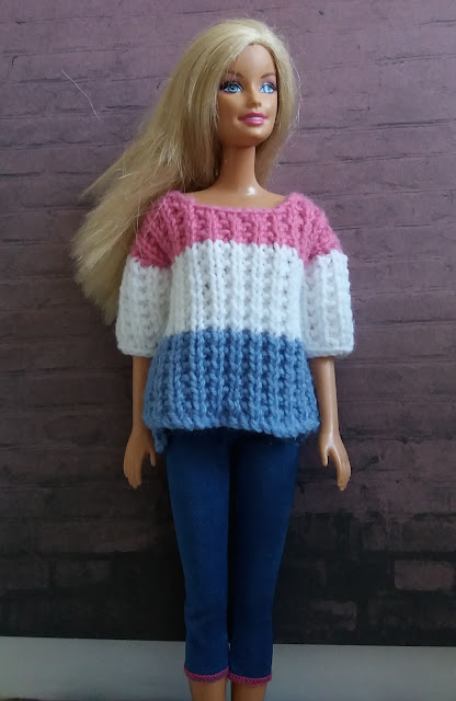 Linmary Knits Barbie Ribbed Sweater