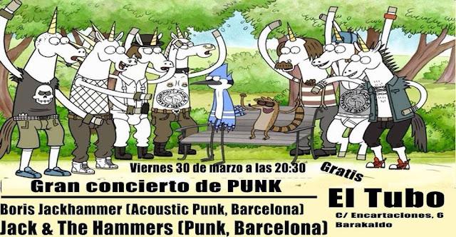 Cartel del concierto en El Tubo