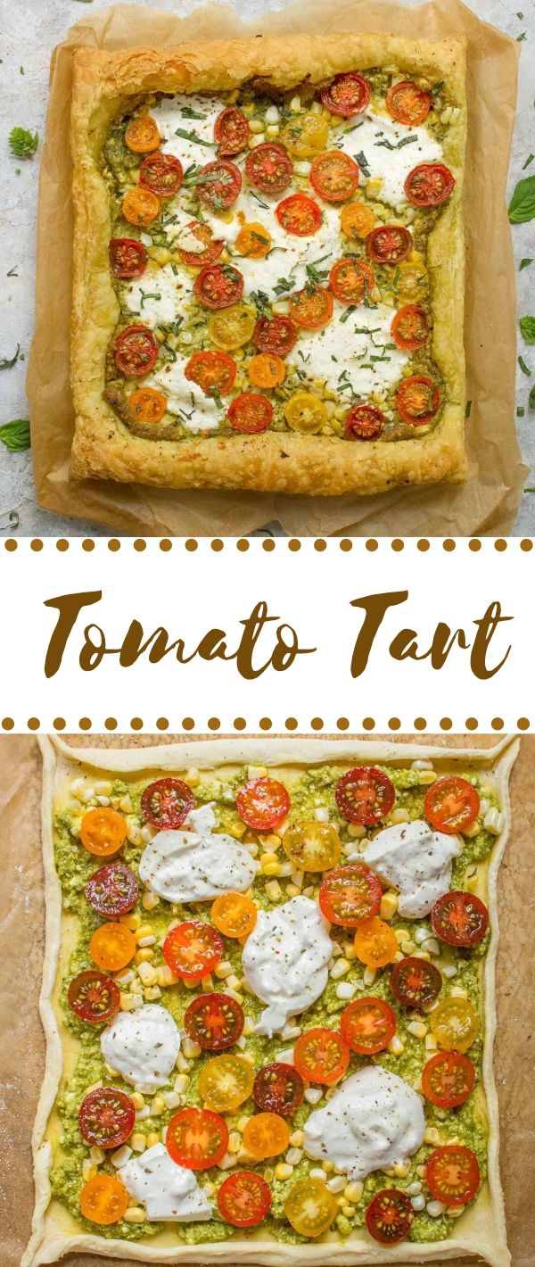Tomato Tart #Tomato #Tart Healthy Dessert Recipes, Healthy Dessert Recipes Under 100 calories, Healthy Dessert Recipes Easy, Healthy Dessert Recipes Clean Eating,