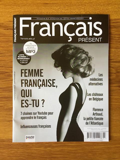 """""""Français Présent 57/2021"""" + aplikacja - okładka czasopisma - Francuski przy kawie"""