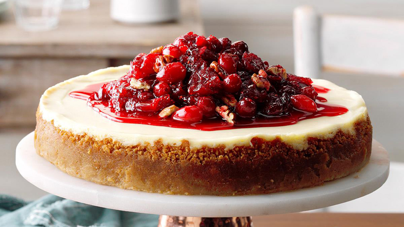 Creamy Cranberry Cheesecake