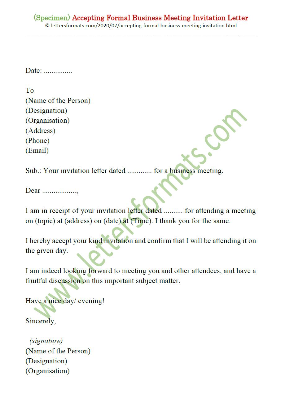 meeting invitation letter
