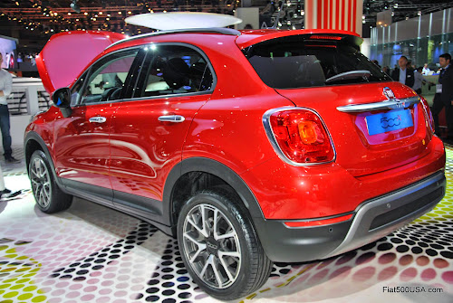 Fiat 500X Left Rear View
