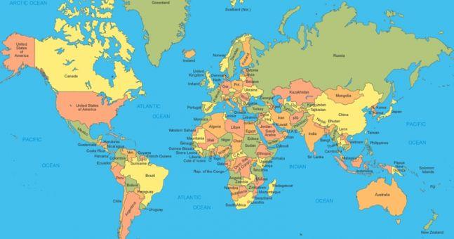 hur många länder finns i världen