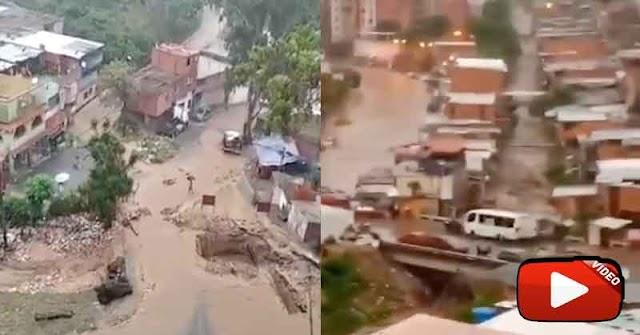 Quebrada de Macarao desbordada por falta de mantenimiento y limpieza