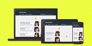 Download Materispot Blogger Template