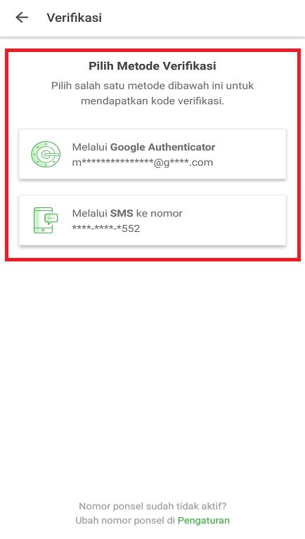 Melakukan Verifikasi Keamanan Akun Marketplace Tokopedia di Smartphone.