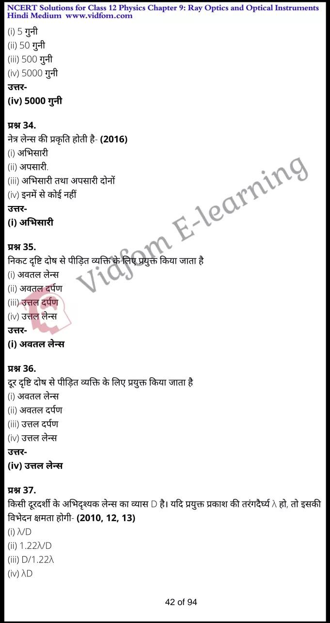 class 12 physics chapter 9 light hindi medium 42