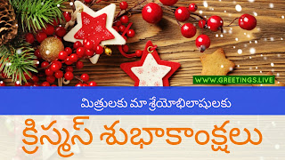 Christmas stars wishes in Telugu Language
